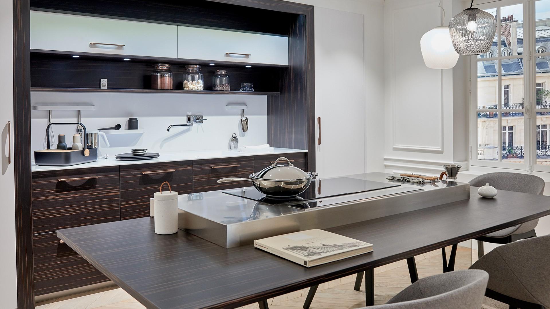 cuisine en b ne de macassar hubler. Black Bedroom Furniture Sets. Home Design Ideas