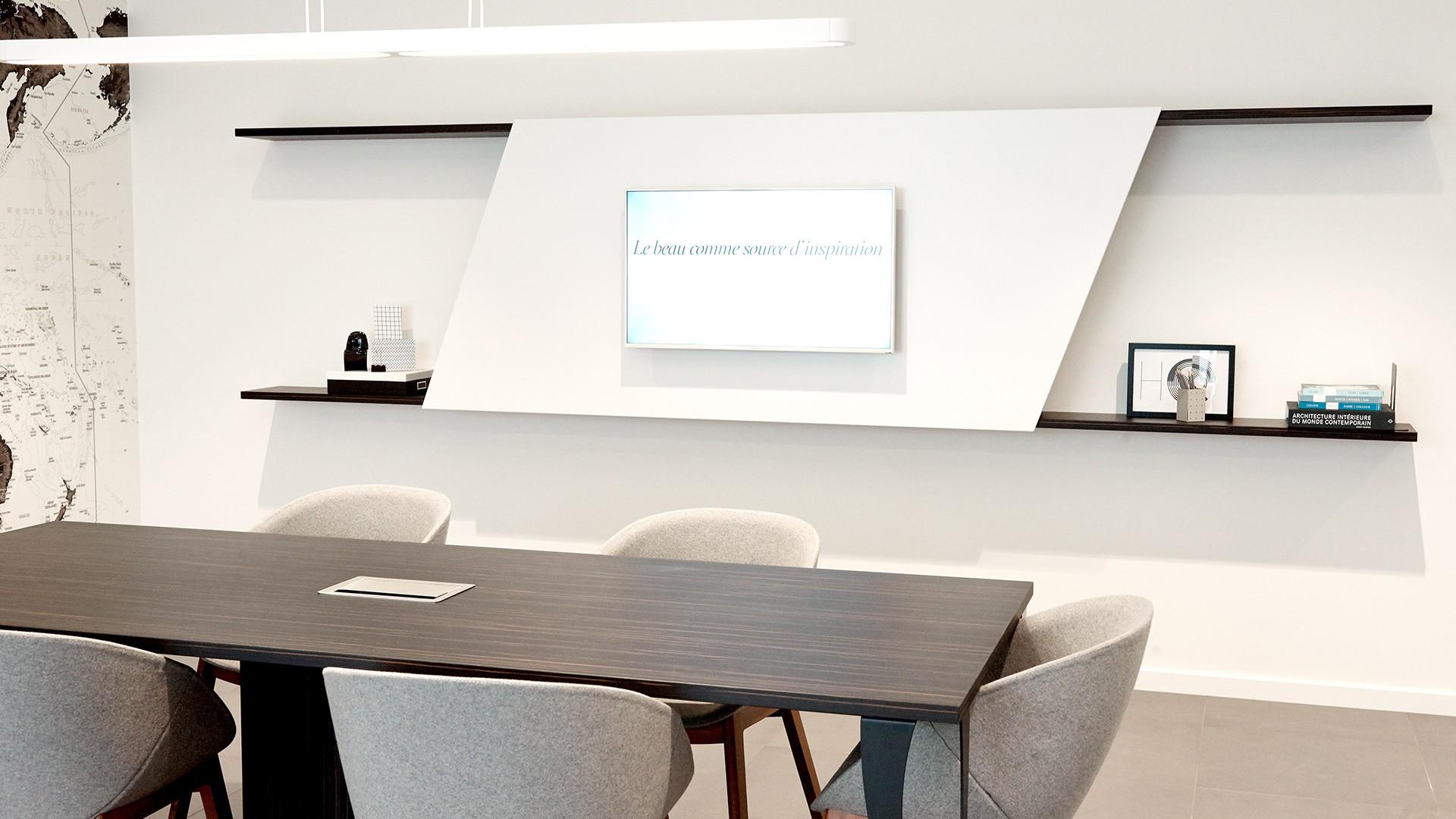 salle de r union en b ne de macassar hubler. Black Bedroom Furniture Sets. Home Design Ideas