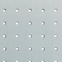 """Alu. """"Rivets carrés"""" incolore"""